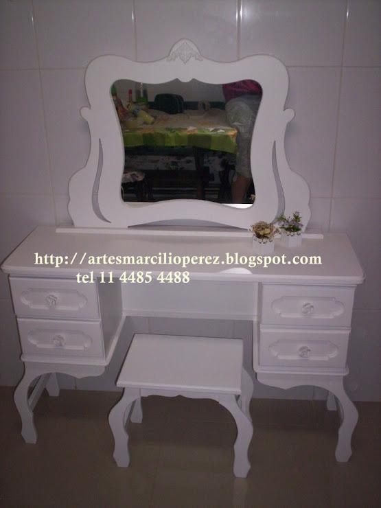 Penteadeira Provençal medidas 1,20cx1,50Ax40P R$ 650,00