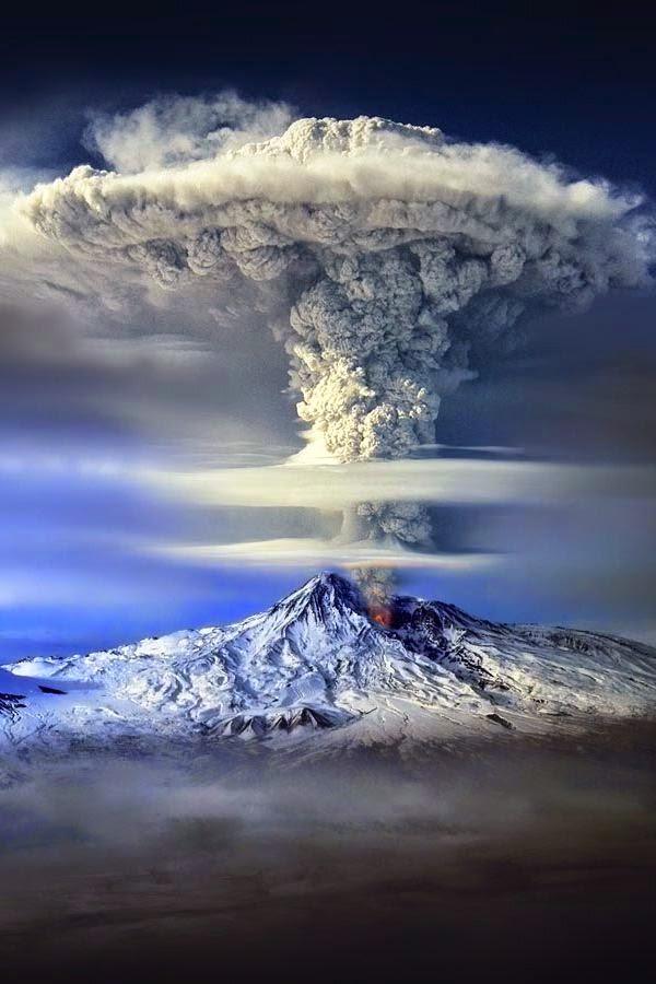 Mount Ararat Eruption Beautiful Shot