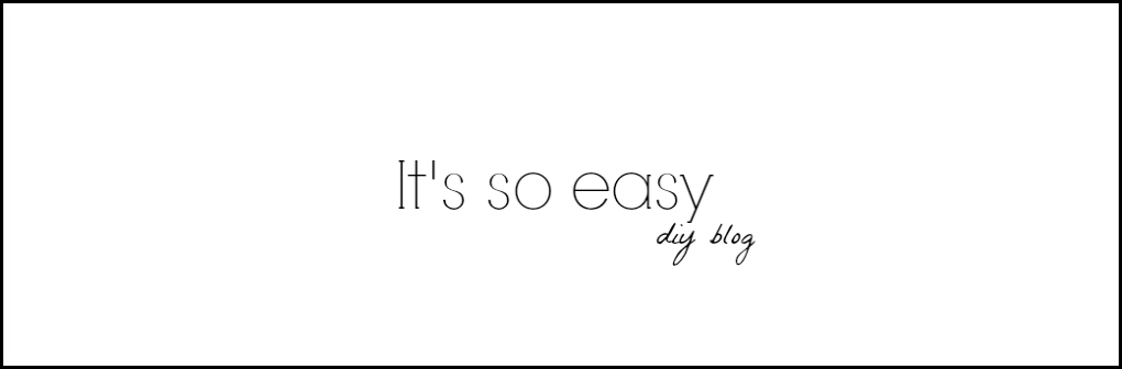 It's so easy DIY blog