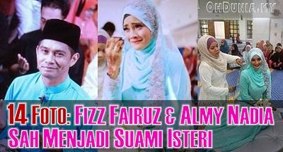 Gambar Fizz Fairuz Dan Almy Nadia Sah Bergelar Suami Isteri