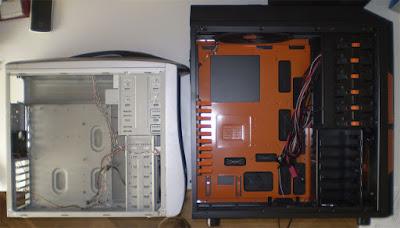 Comparativa entre una caja de PC genérica y la Xpredator de Aerocool. Tecnoculturas.com/José Carlos Pedrouzo Varela