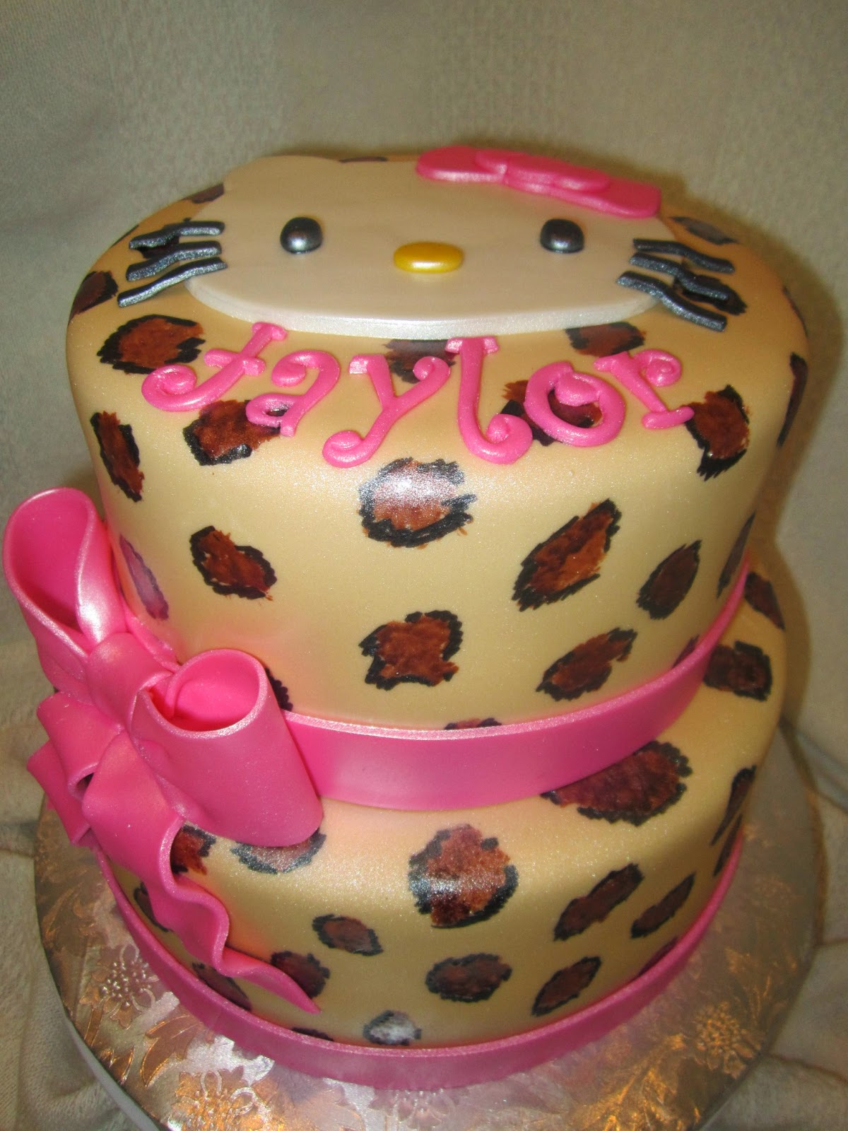hello kitty cheetah print baby shower cake images pictures becuo