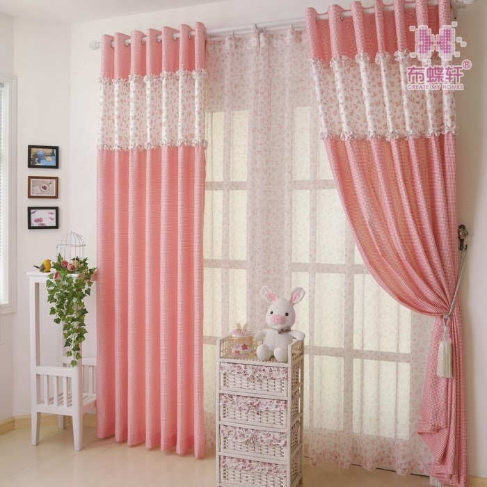 Girls bedroom window curtains for Window valances for bedroom