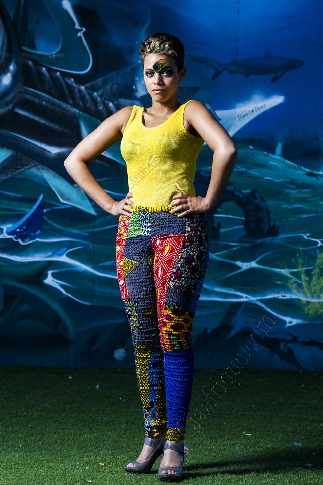 African print Leggings by Wusuwaah