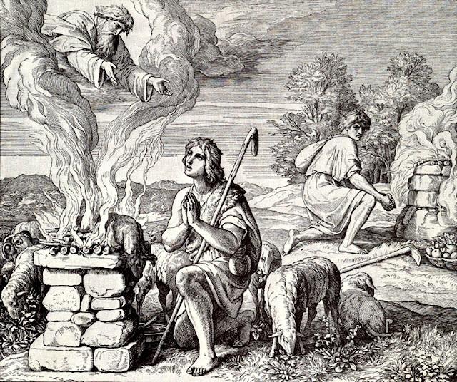 Gravure en bois, 1860, Abel et Caïn