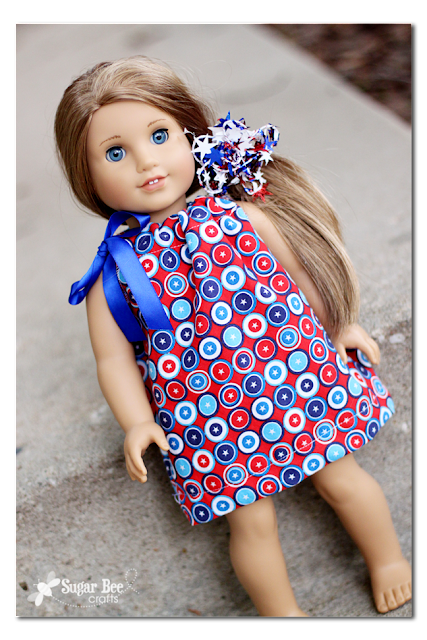 American Doll Dress Tutorial by Sugar Bee Crafts
