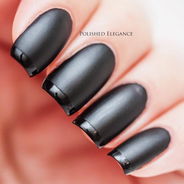 Dark Black Matte Nail Polish