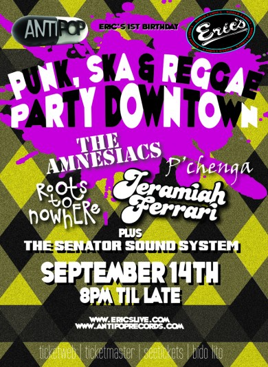 Anti Pop presents Punk Ska and Reggae Party