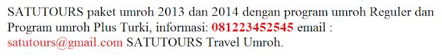 Info Paket Umroh Plus Istanbul Tahun 2014