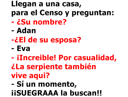Chiste El censo