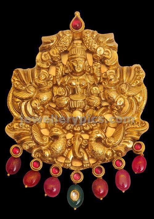 mahalakshmi gold locket latest design