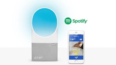 Link Aura Smart Alarm Clock to Spotify