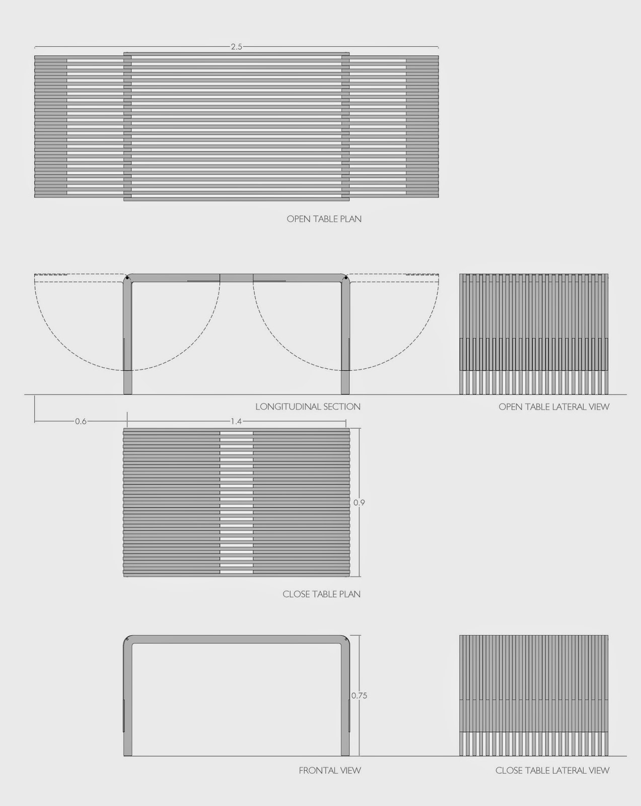 andres gonzalez gil diseño mesa extensible extendable table design