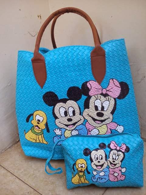 Tas Lukis Mickey Minnie Mouse Rp 180.000