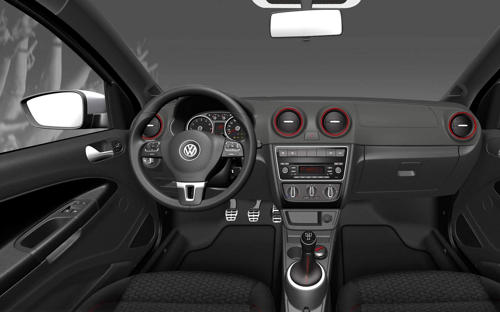 VW Saveiro Cabine Dupla interior