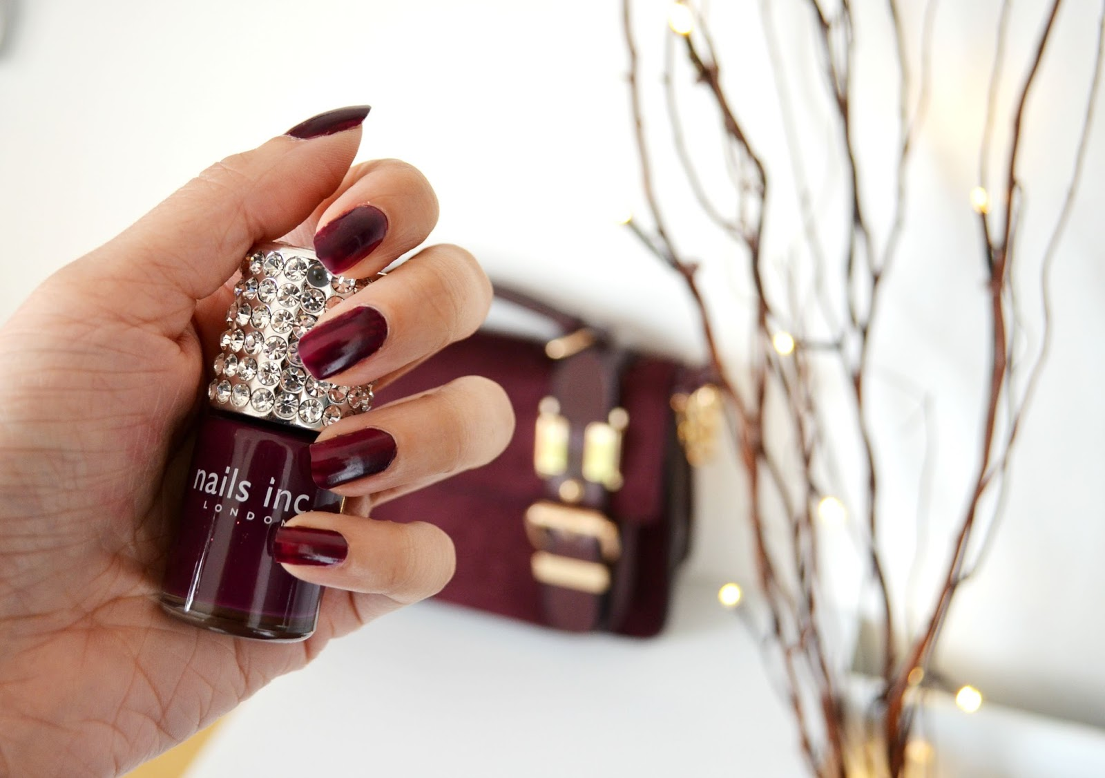 Burgandy marsala colour beautiful blogger nails for Autumn