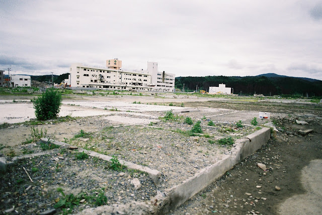 ruins of the houses in minamisanriku and the hospital
