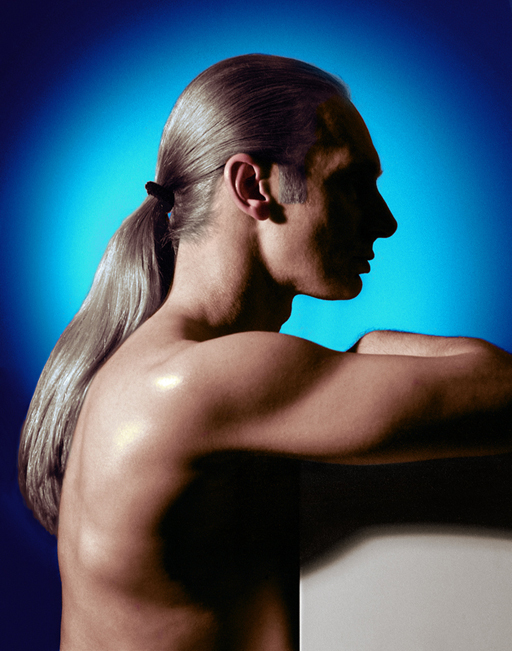 John Dobson self-portrait ponytail
