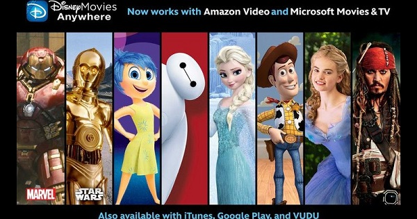 Disney Movies Anywhere arrives on Amazon Video and Microsoft Movies & TV