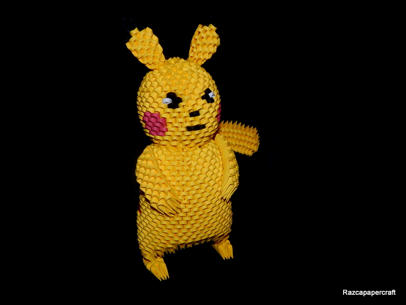 3D Origami Pikachu Pokemon Made From 3d Pieces