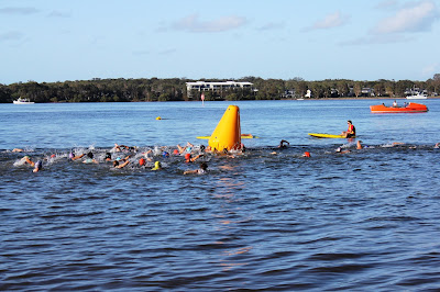 Queensland Triathlon Series Bribie Island 2013 Swimming Energia Sports Oscar Mendez