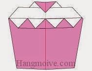 Bước 10: Hoàn thành cách xếp cái, chiếc bánh bằng giấy origami đơn giản.