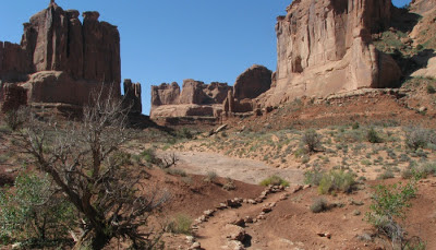 Park Avenue Trail i Arches National Park i Utah.