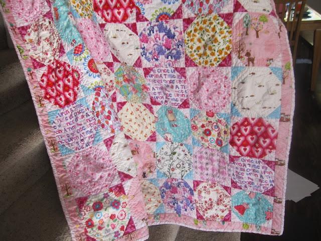 pink snowball quilt