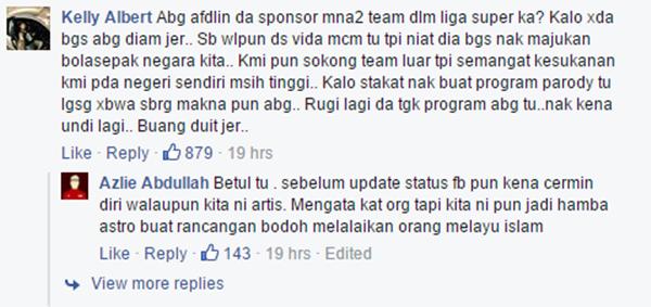 Isu Taja Pasukan Bola Sepak, Komen 'Pedas' Dari Afdlin Shauki!!
