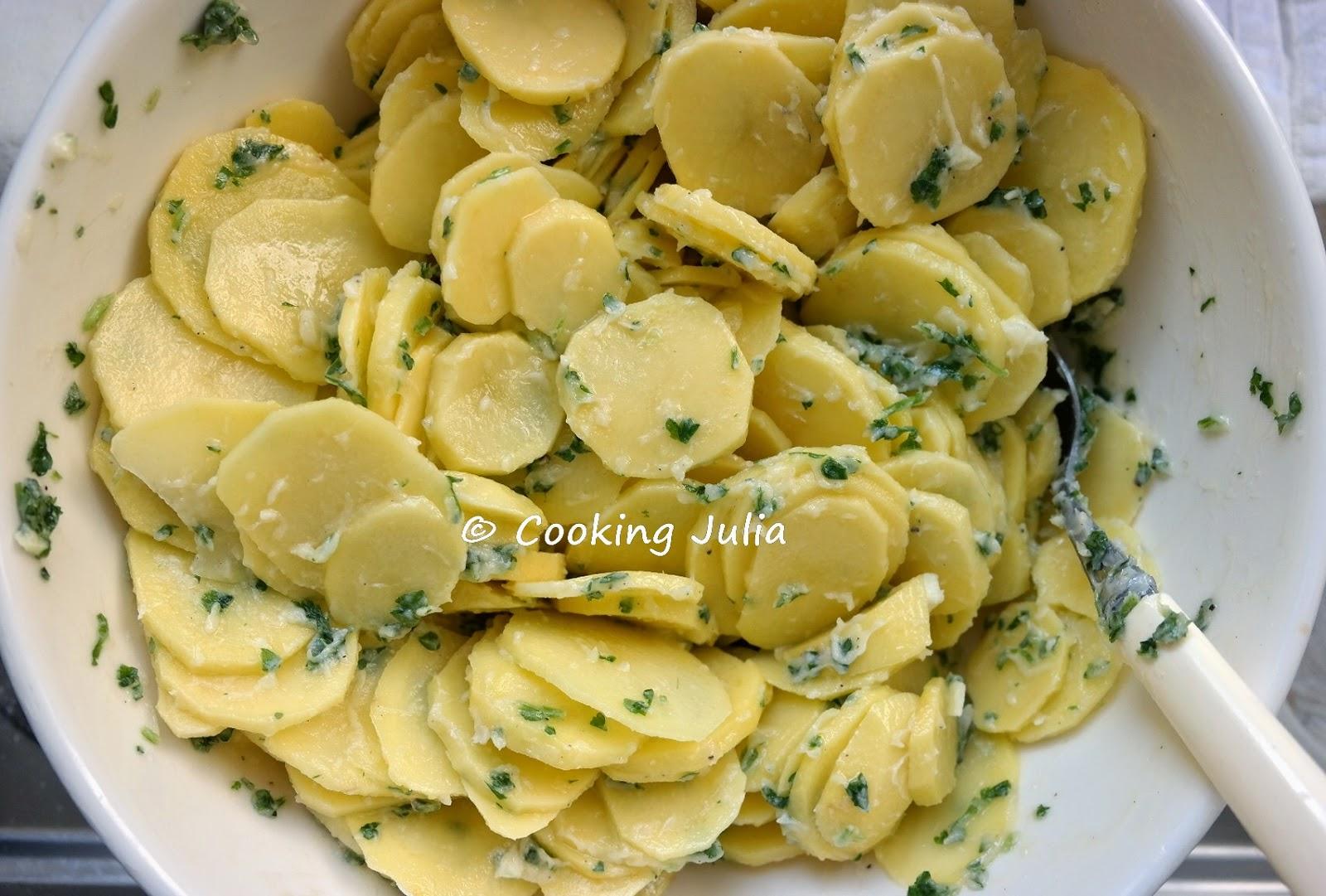 Cooking julia p t de pommes de terre - Pomme de terre au beurre ...
