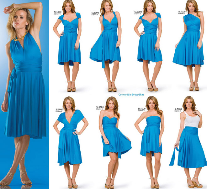 convertible wrap dress instructions