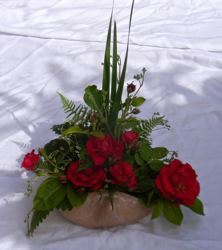 Blomdek. i keramiksnäcka