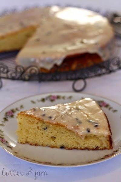 Lemon Passionfruit Yoghurt Cake