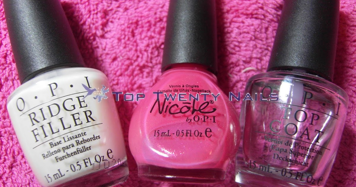 TopTwentyNails: \'You\'re A Star\' from Nicole by OPI - Pink Wednesday Toes