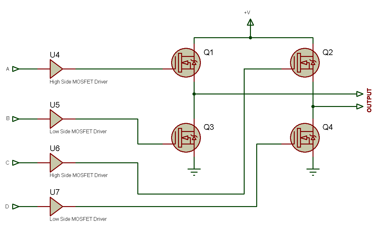 Tahmids Blog Sine Wave Generation With Fast Pwm Mode Of Avr The N Type Mosfet Irf3205s Can Be Replaced Different Types 2 Is Circuit Diagram For Configuration Mosfets And Drivers Synchronization Signals Generated From Fig 1 Above
