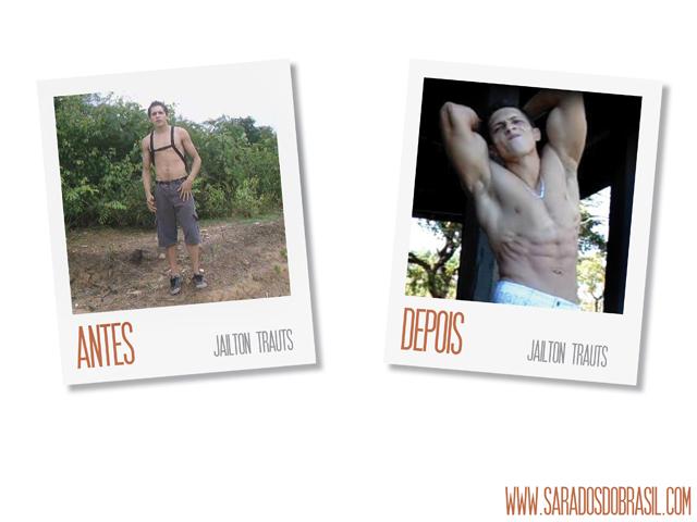 Aos 20 anos, Jailton pesava 72 kg. Hoje, aos 25, ele pesa 83 kg e exibe o corpo sarado. Foto: Arquivo pessoal