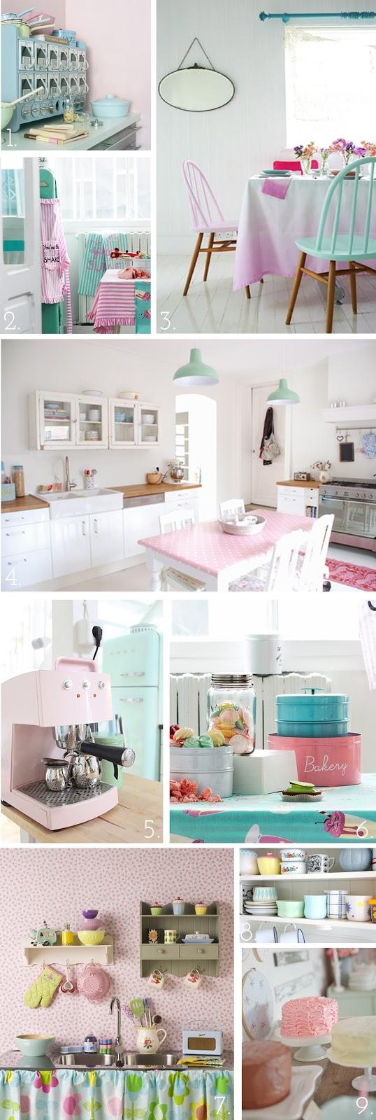 The Pink Doormat Pretty Pastel Kitchen Inspiration