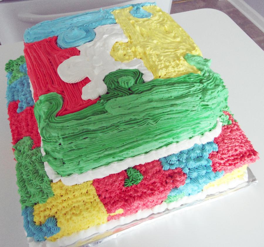Jigsaw Puzzle Piece Cake Pan