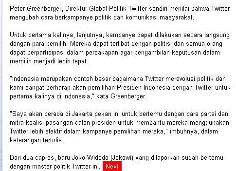 Peter Greenberger, Direktur Global Politik Twitter