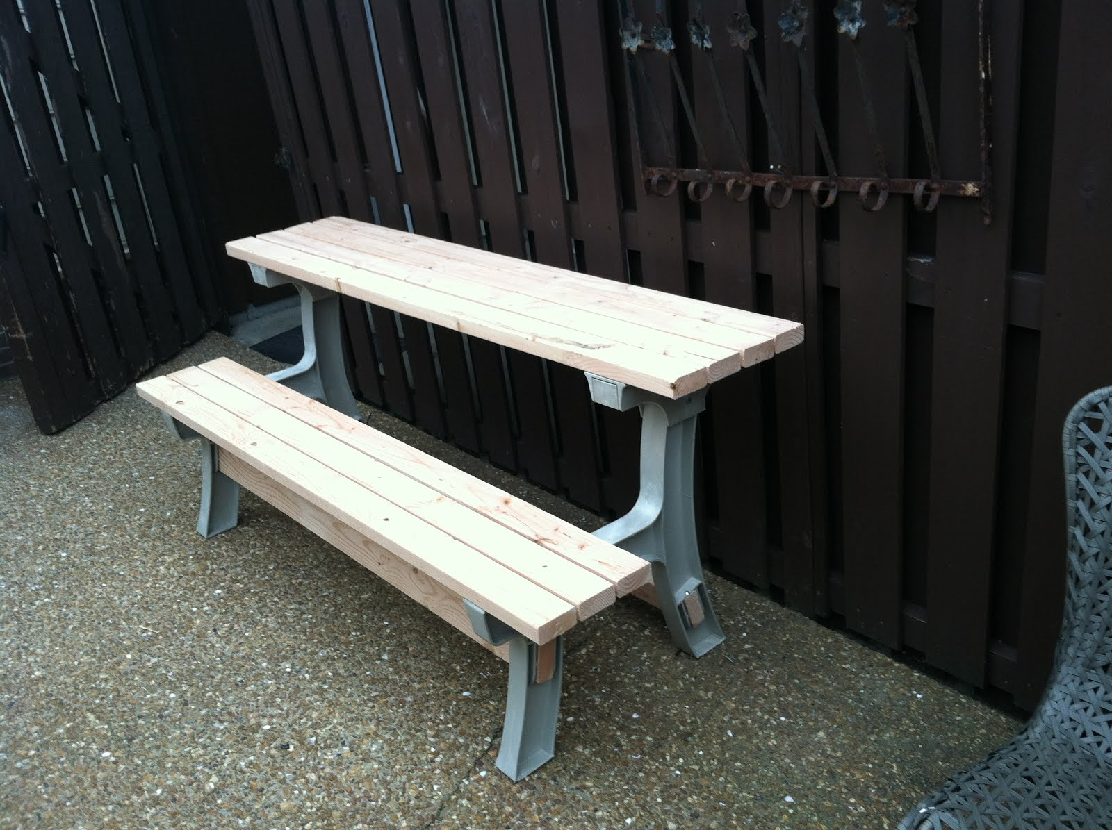 Bench W/Tilt Back - Converts to a Half PicNic Table
