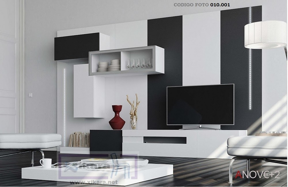 Muebles de salon anove for Mueble salon blanco y gris