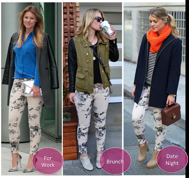 3 Ways to Wear: Floral Jeans