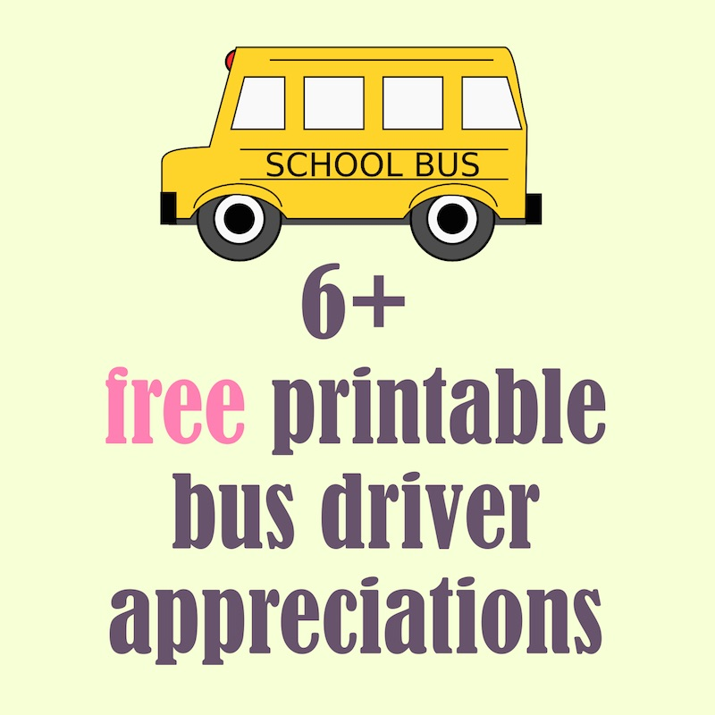 Free Printable School Bus Driver Appreciations   Round Up  Bus Pass Template