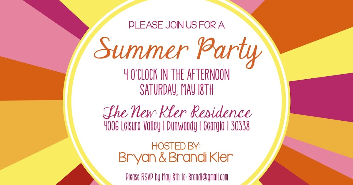 Shilo Lynn Prints Kler Summer Party Invitation