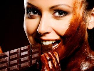 Girl Eating Chocolate HD Wallpaper