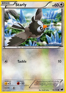 Starly Plasma Freeze Pokemon Card