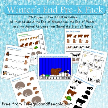 Hibernating Animals and Spring Beginning Pre-K Pack