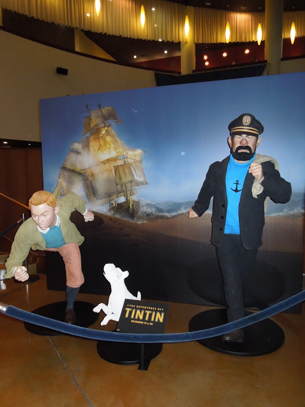 Tintin character movie display