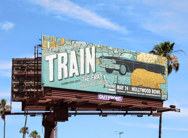 Train Picasso at the wheel tour billboard