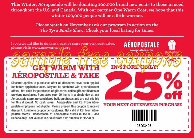 Aeropostale discount coupons